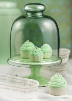 Cupcake de Menta, o menor do mundo